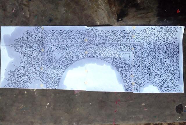 desain kaligrafi hiasan mushaf