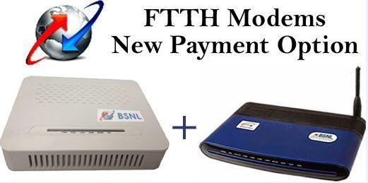 BSNL FiberNet ONT with Broadband WiFi Modem on Rental