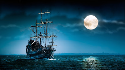 Ship at Sea Wallpaper Theme