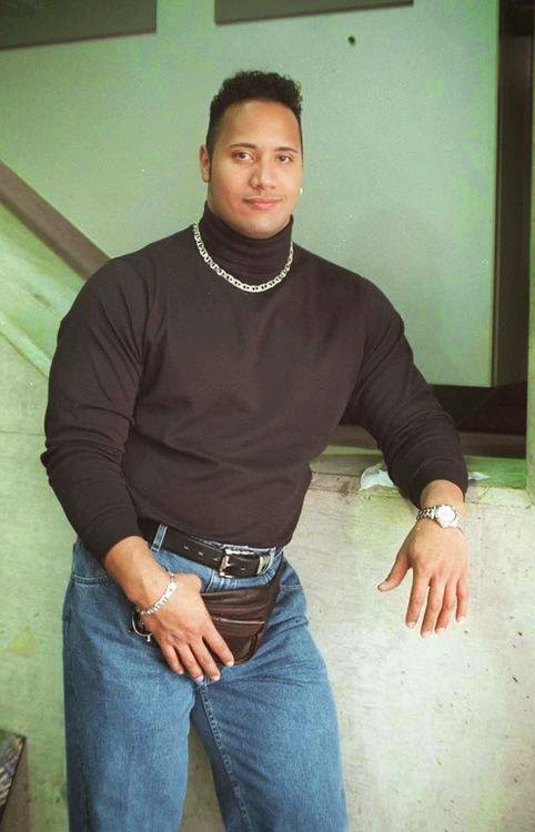 The Rock, Dwayne Johnson, 90s Fashion, Fanny Pack, The 90s, 1990s, Funny, Pictures than make you feel old,