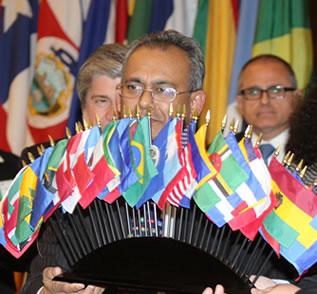 evento internacional idioma estrangeiro
