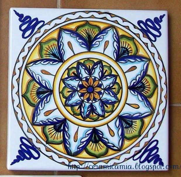 Ceramica che passione piastrelle di ceramica decorate a mano - Piastrelle bagno decorate ...