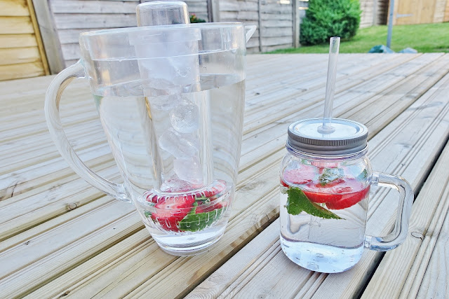 strawberry and mint infused water