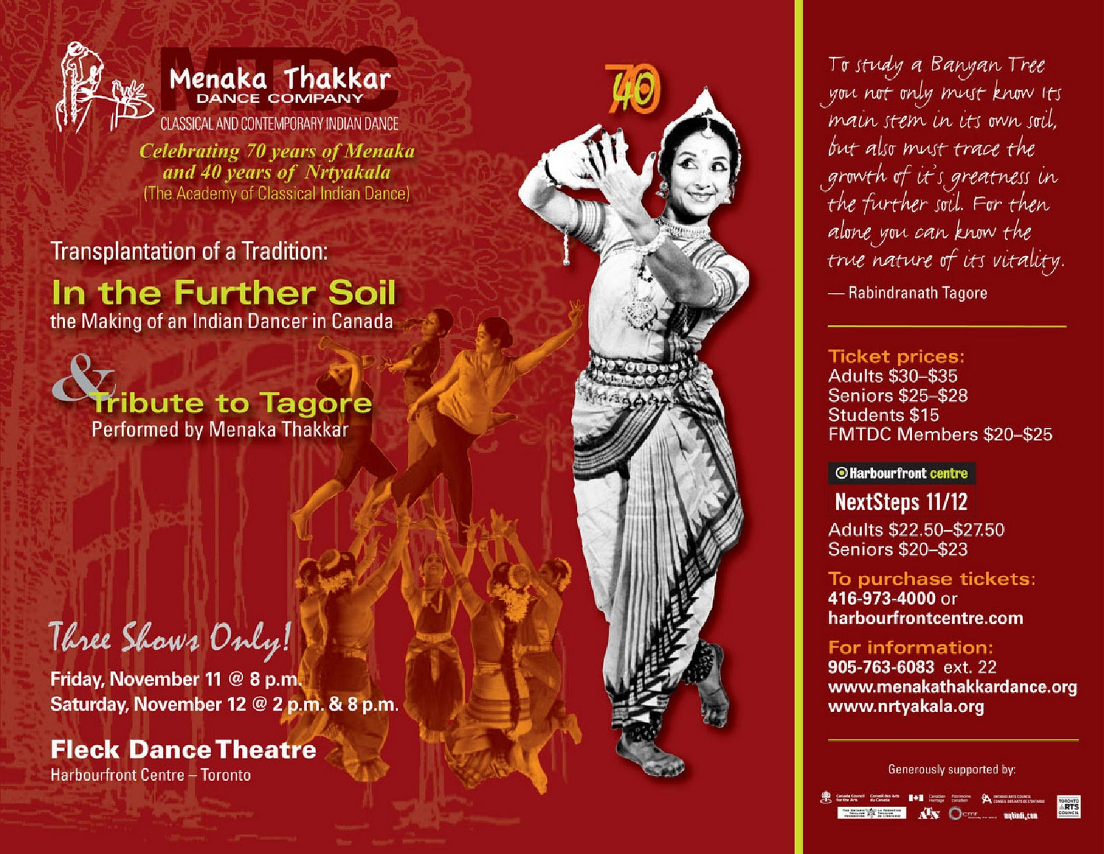 An invitation to in the further soil with the menaka thakkar a warm invitation has been passed along to torontos hare krishna community to attend a special presentation by the menaka thakkar dance company stopboris