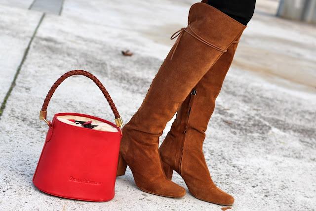 botas zara camel