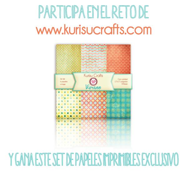 Reto scrapbooking Kurisu Crafts