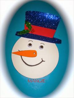 Cara muñeco de nieve calendario