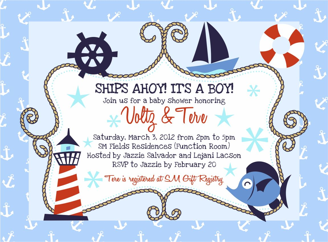 money savvy fashionista whimsical nautical baby shower