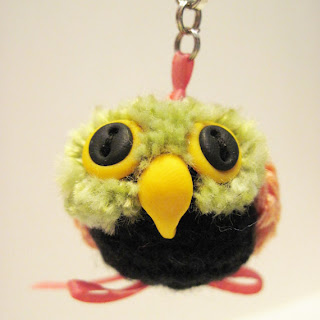 Crocheted Owl Keychain by Designing Impressions on etsy