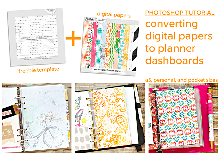 Digital papers planner dashboard photoshop template for What is a planner dashboard