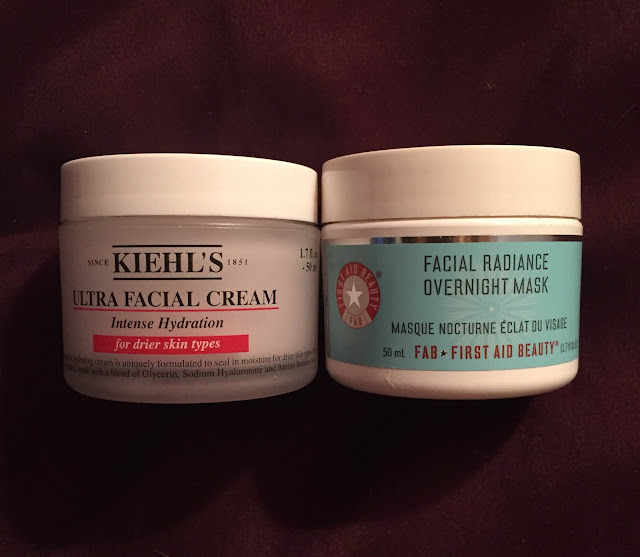 Kiehl's, Kiehl's Ultra Facial Cream, First Aid Beauty, First Aid Beauty Facial Radiance Overnight Mask, skin, skincare, skin care, winter skincare, skincare regimen