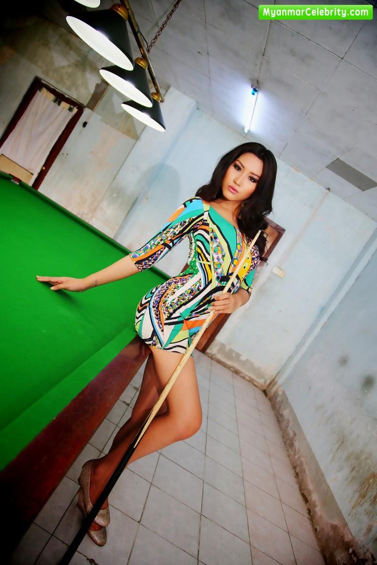 Attractive Myanmar Snooker Girl Ei Nu Wai