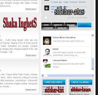Hasil dari Cara Menambah Kolom di Sidebar Blog