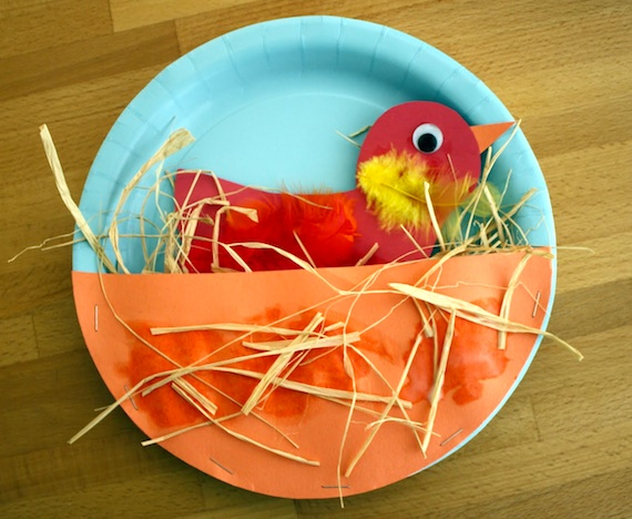 Поделки в детском саду на тему птиц