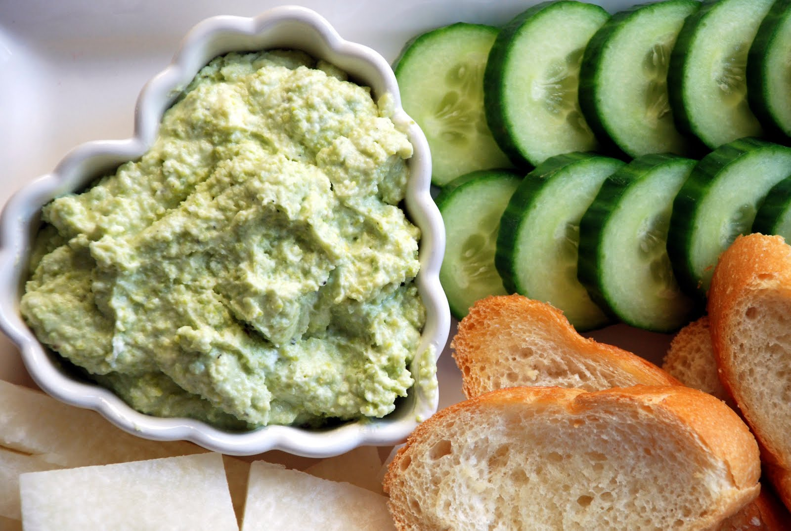Sweet Flours: fava bean and goat cheese dip