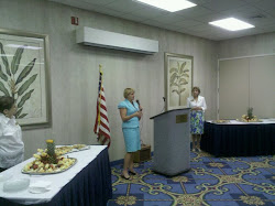 Former state representative Loranne Ausley and state Democratic Women's Club president Janet Goen