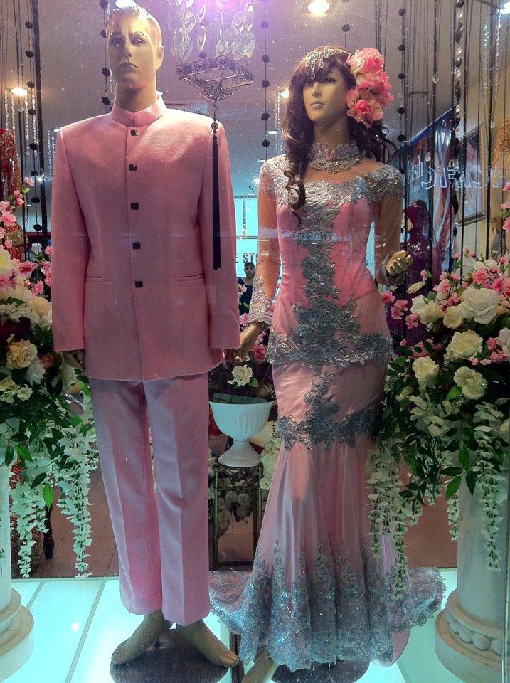 Pink masam dengan gabungan warna grey.. warna yang amat la sesuai ...
