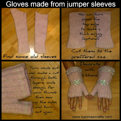 gloves jumper sleeves upcycling