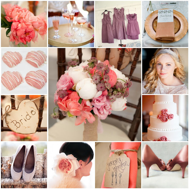 pink and mauve wedding