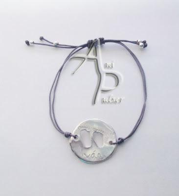 Pulsera plata personalizada