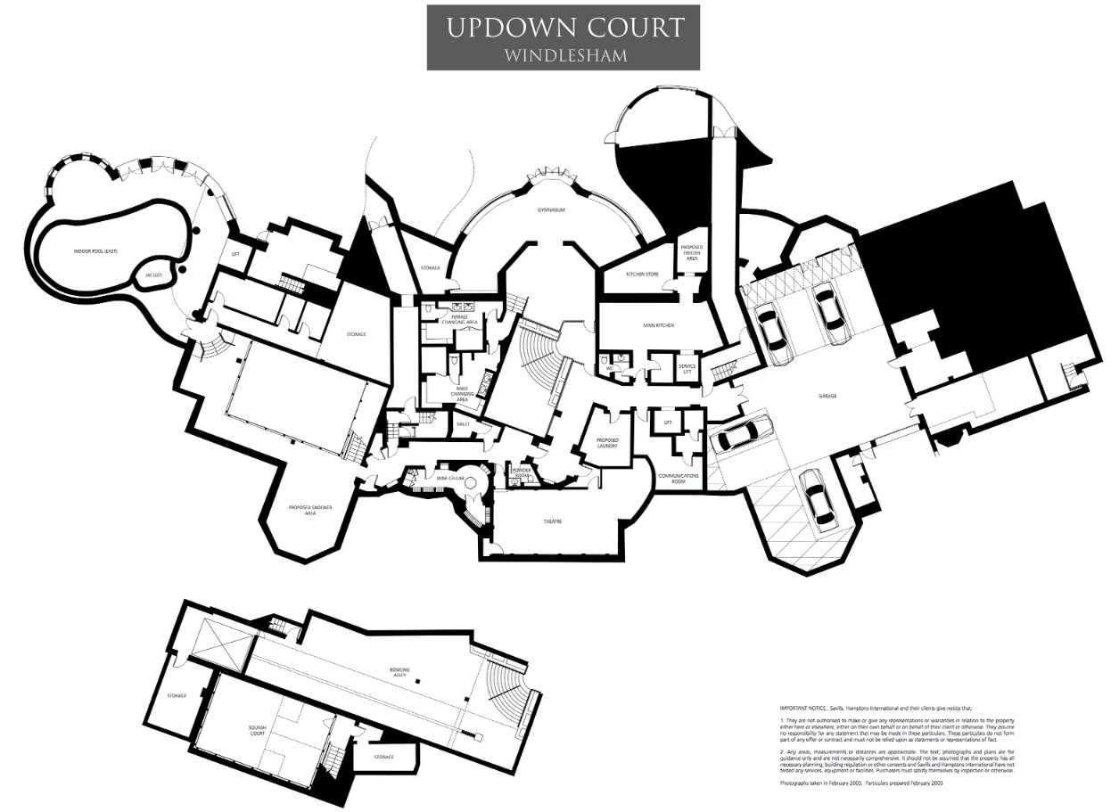 Fancy With rooms and over acres of land it us also one of the largest Here are the floor plans to the enormous mansion