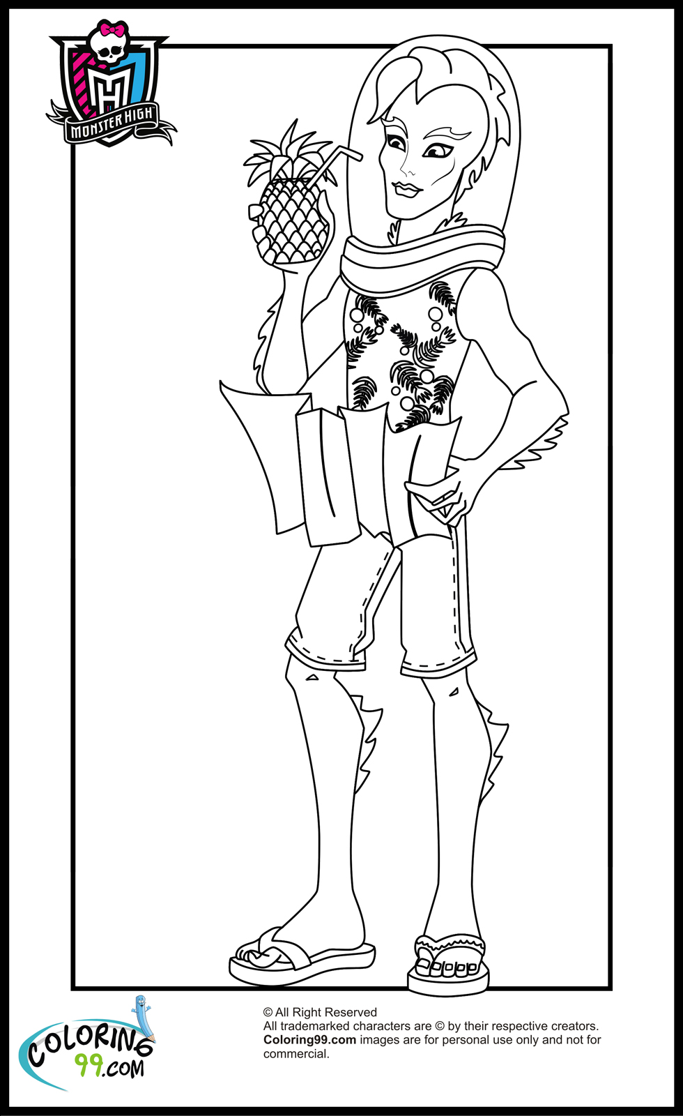 Monster high boys coloring pages team colors for Monster high printables coloring pages
