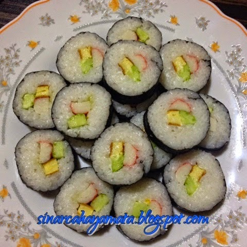 homemade sushi roll