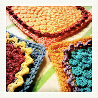 free crochet pattern flower square