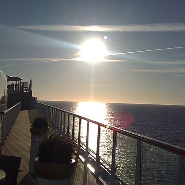 Sailing away to new horizons. This photo was taken en route to Lisbon, Portugal.