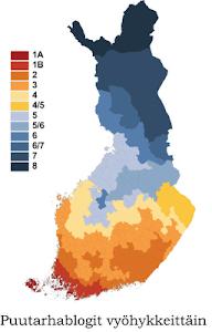 Suomalaiset puutarhablogit kasvuvyöhykkeiden mukaan