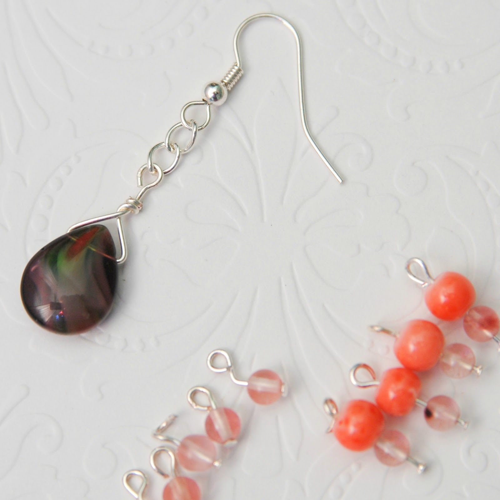 Color Block Beaded Earrings