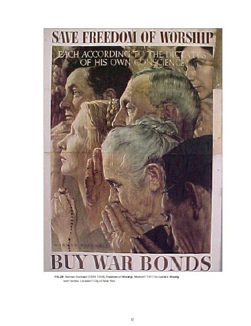Norman Rockwell and his Four Freedoms: