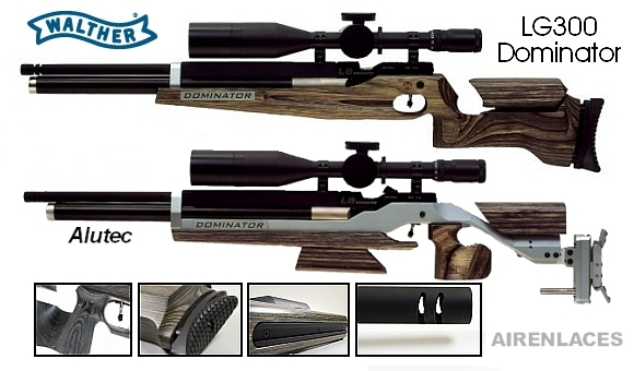 Walther LG300 FT air rifle, Walther rifle de aire para FT, Walther air rifle for Field Target