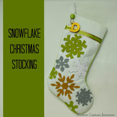 snowflake christmas stocking DIY