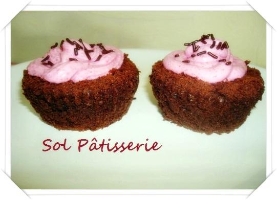 Cupcake au chocolat et à la betterave