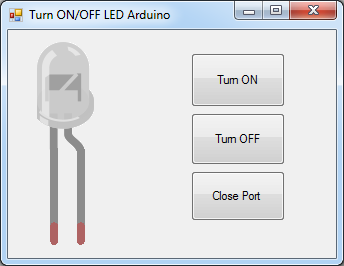 Turn ON OFF LED arduino with C#