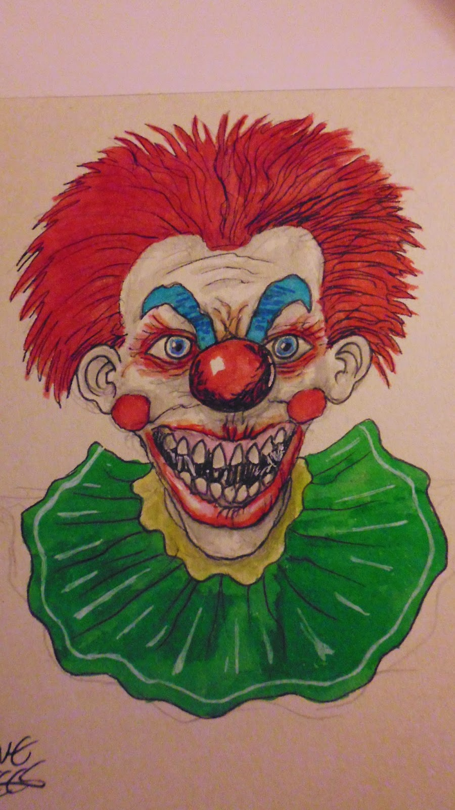 killer klown drawing