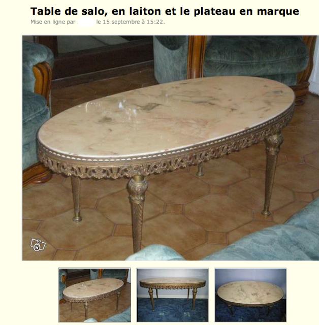 Le bon coin coin un vrai fumier cette table - Le bon coin service de table ...