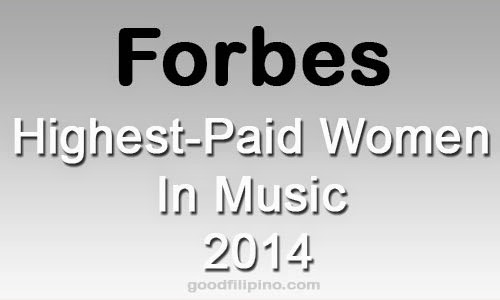 The popular magazine in the U.S. released the yearly list of their 'Highest-Paid Women In Music 2014.'
