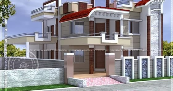 Exterior design of house in india home kerala plans for House exterior design pictures in indian