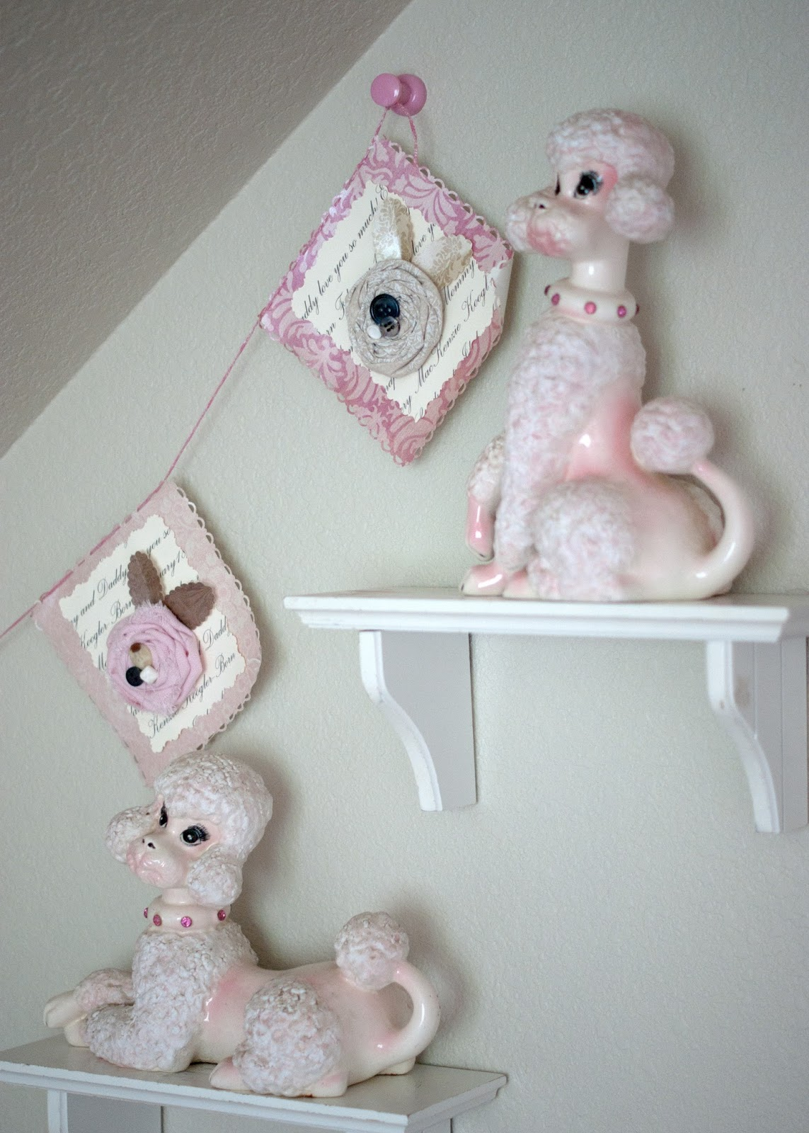 Vintage Poodles and bunting