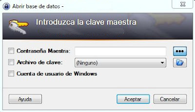 keepass clave maestra