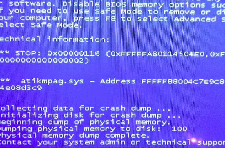 atikmdag sys blue screen bsod (discussion \u0026 solution) atikmdag sys
