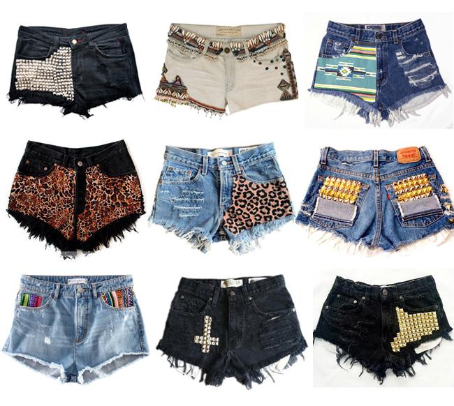 Как украсить старые шорты