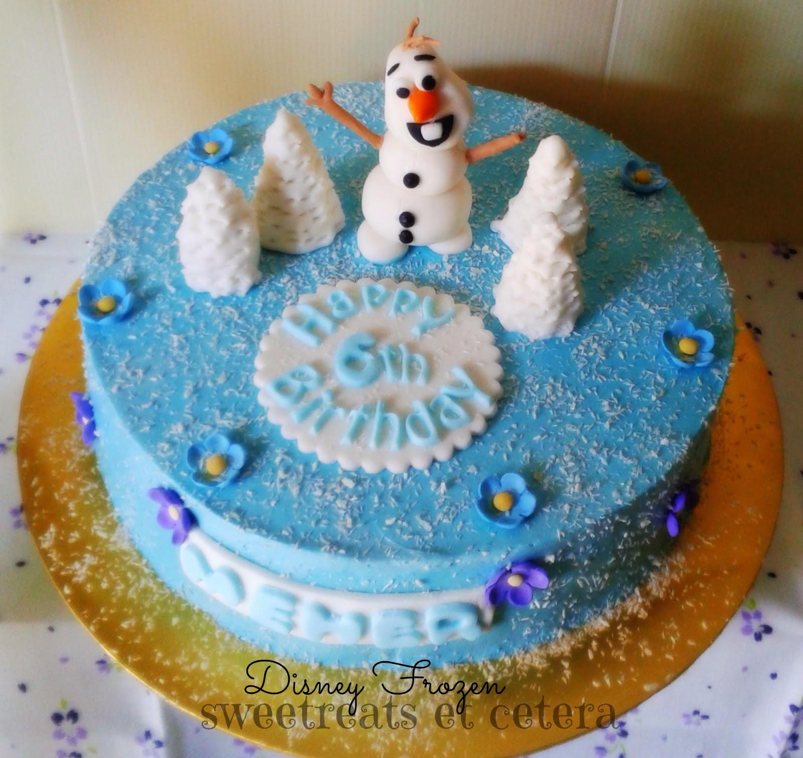Sweetreats Etcetera: Frozen Theme Cake