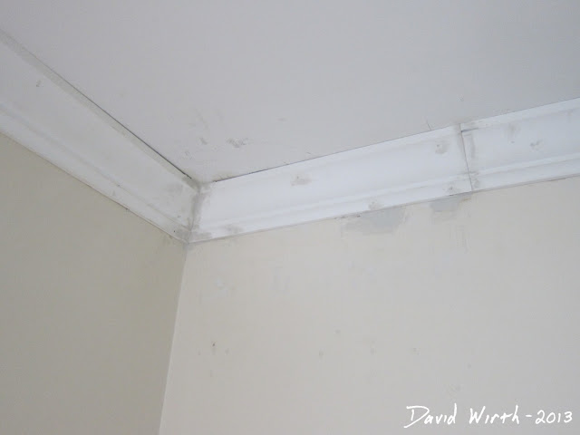 how to fix crown molding, bad cut, spackle