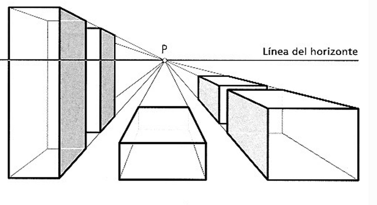 Plastic tac espacios en perspectiva c nica 4 eso for Exterior a un punto de fuga