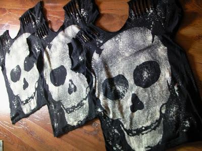 czaszki diy gothic psychobilly kości t-shirt punk lucky loser