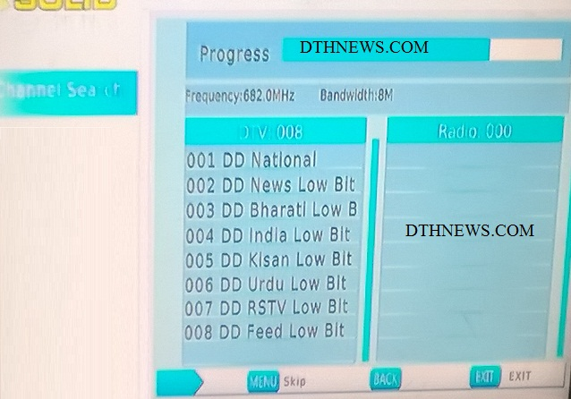 7 More DD Channels available in DVB-T2 service Delhi