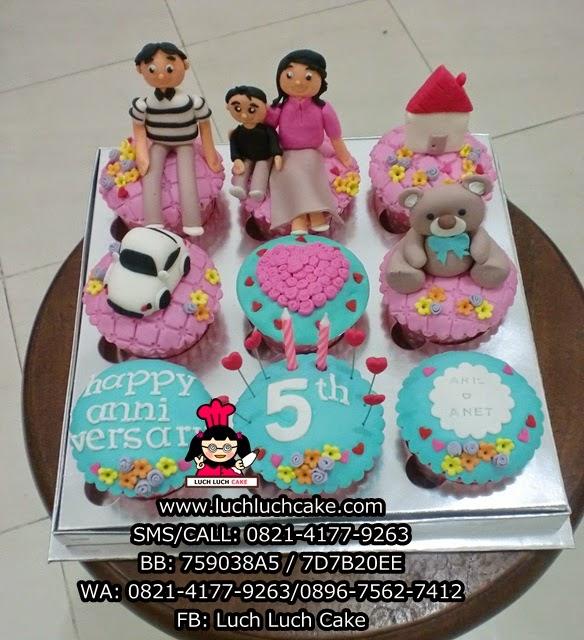 Cupcake Anniversary Cantik Daerah Surabaya - Sidorajo